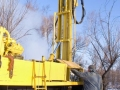 mobile bore installation for boring the bore holes
